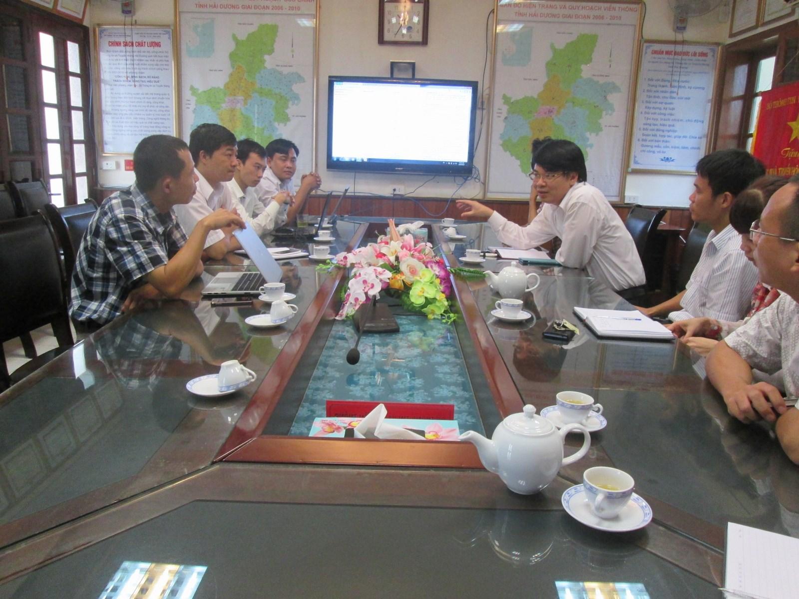 Tham gia thảo luận tại sở TT&TT Hải Dương