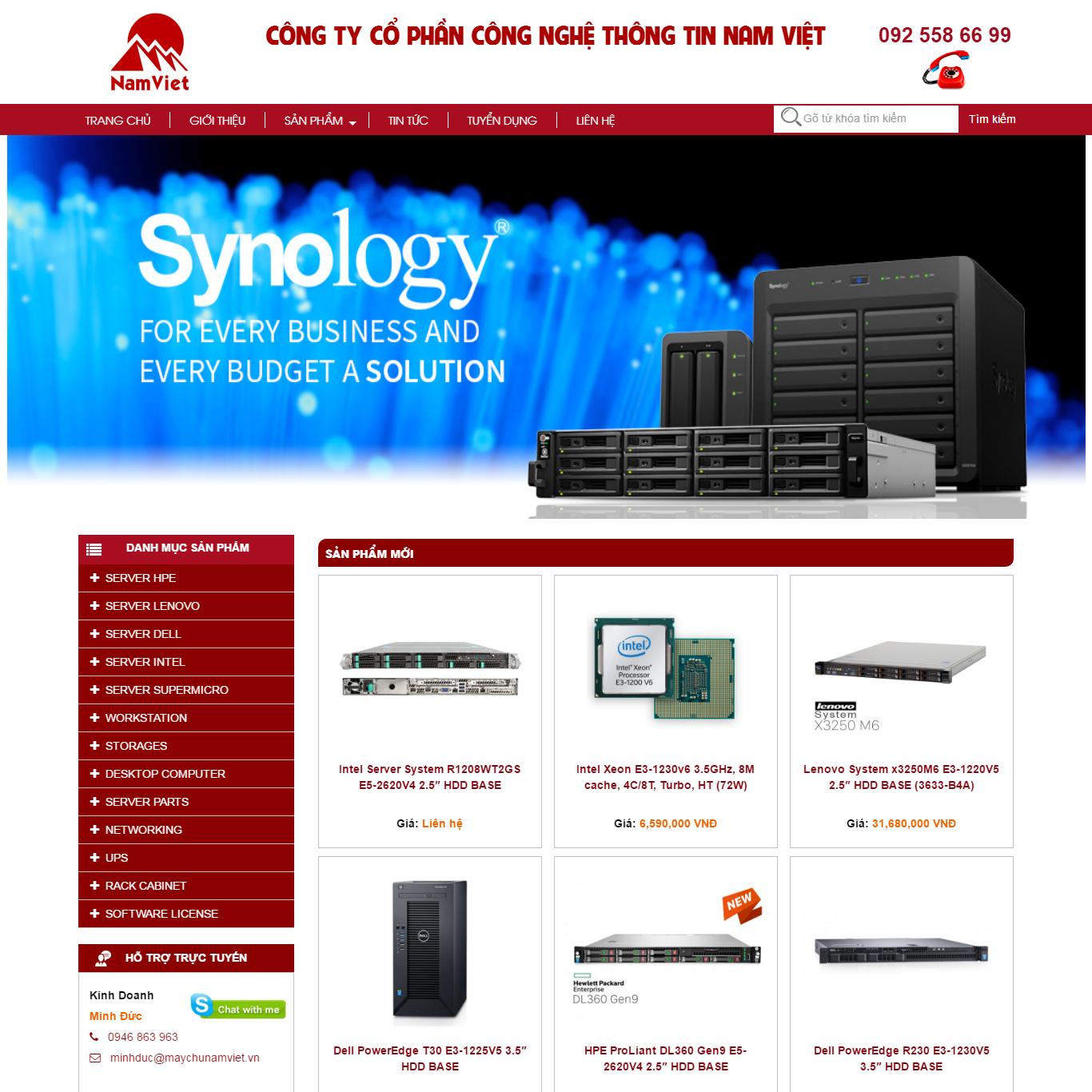 máy server, web bán hàng, máy chủ, bán máy tính