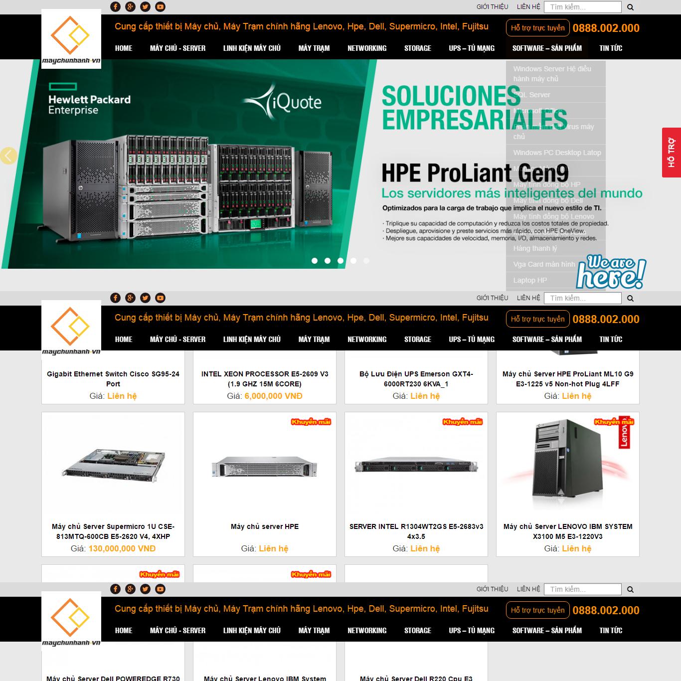web máy server, web bán hàng, máy chủ, bán máy tính