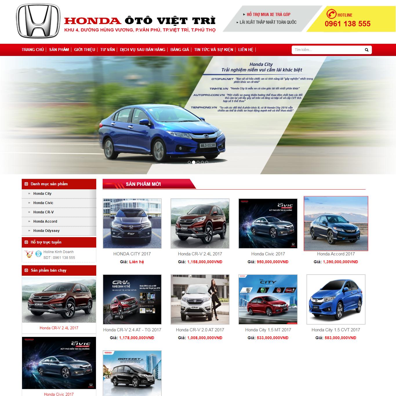 mẫu website ô tô, o to, xe máy, mẫu website ô tô