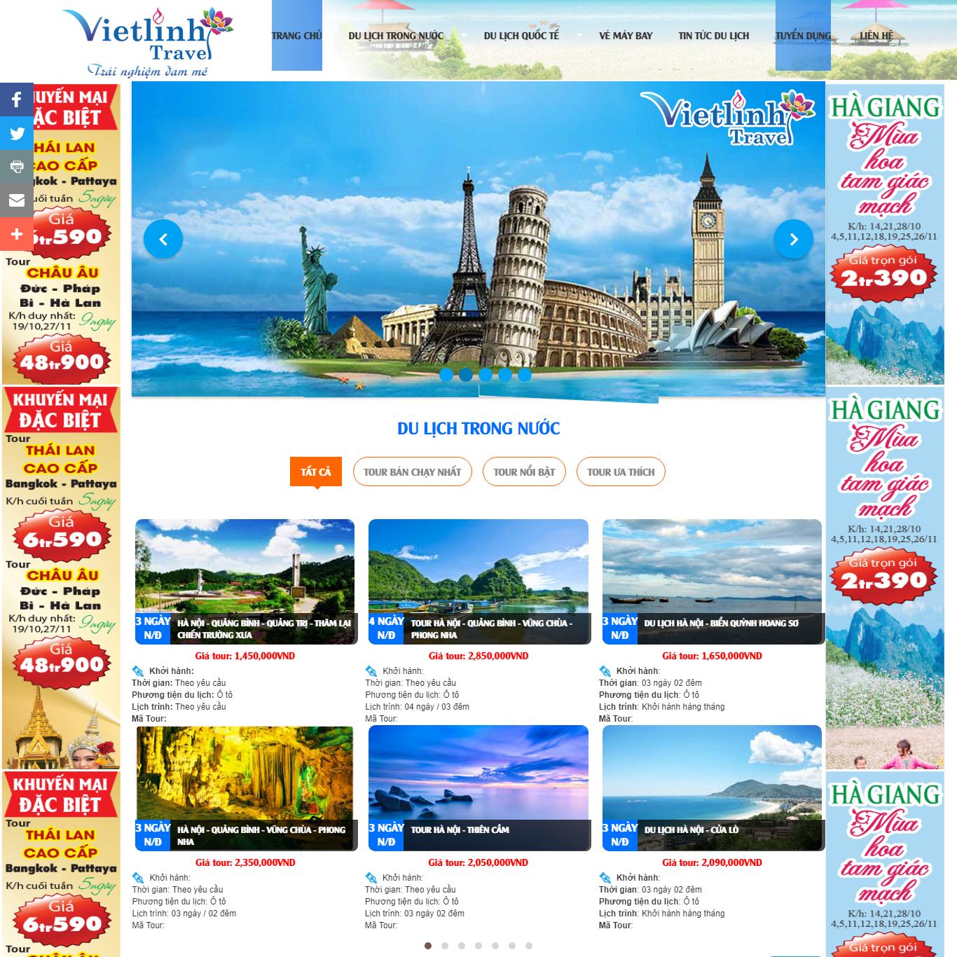 Du lịch trong nước , nước ngoài , khách sạn