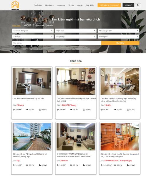 Website BĐS cho thuê
